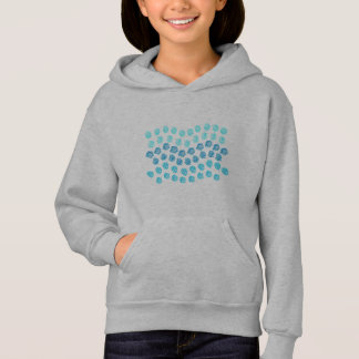 Blue Waves Girls' Hoodie