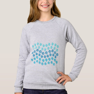 Blue Waves Girls' Raglan Sweatshirt