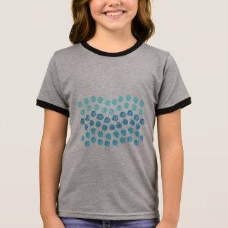 Blue Waves Girls' Ringer T-Shirt