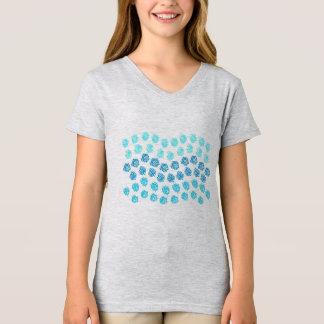 Blue Waves Girls' V-Neck T-Shirt