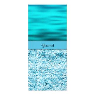 Blue Waves & Glitter Rack Cards