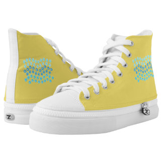Blue Waves High Top Shoes