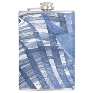 Blue waves hip flask