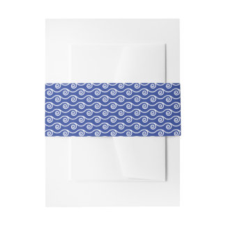 Blue Waves   Invitation Belly Band