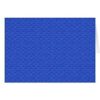 Blue Waves Japanese Style Pattern Blank Inside Card