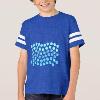 Blue Waves Kids' Football T-Shirt