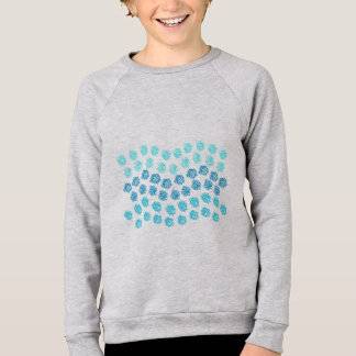 Blue Waves Kids' Raglan Sweatshirt
