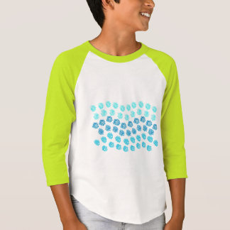 Blue Waves Kids' Raglan T-Shirt