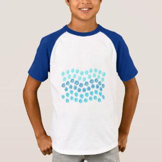Blue Waves Kids' Short Sleeves Raglan T-Shirt
