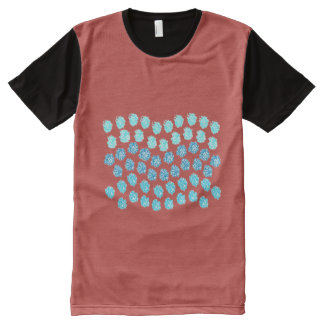 Blue Waves Men's All-Over Printed T-Shirt