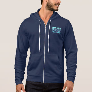 Blue Waves Men's Full-Zip Hoodie