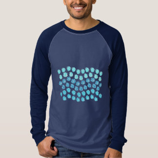 Blue Waves Men's Long Sleeve Raglan T-Shirt