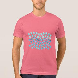 Blue Waves Men's Poly-Cotton Blend T-Shirt