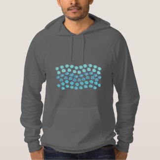 Blue Waves Men's Pullover Hoodie
