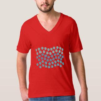 Blue Waves Men's V-Neck T-Shirt