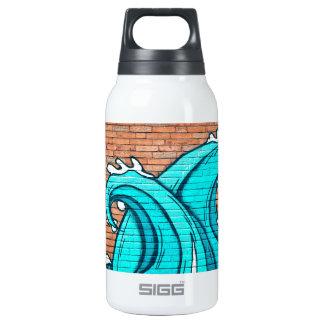 Blue Waves Mural Wall Graffiti Street Art Insulated Water Bottle