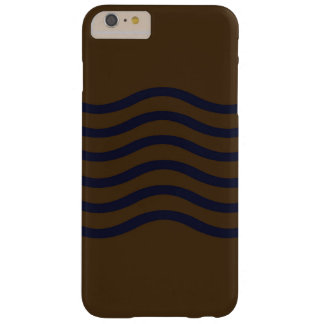 Blue Waves on Brown Sand Barely There iPhone 6 Plus Case