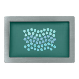 Blue Waves Rectangle Belt Buckle