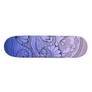 blue waves skate deck