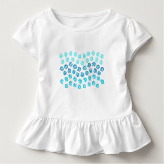 Blue Waves Toddler Ruffle T-Shirt