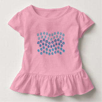 Blue Waves Toddler Ruffle T-Shirt