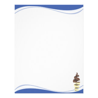 Blue Waves with a Chocolate Ice Cream Twist Letterhead