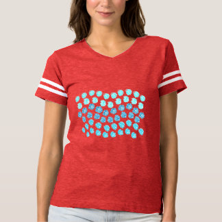 Blue Waves Women's Football T-Shirt