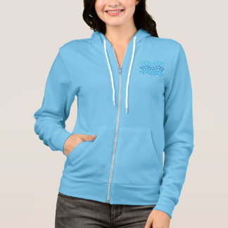 Blue Waves Women's Full-Zip Hoodie