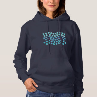 Blue Waves Women's Hooded Sweatshirt
