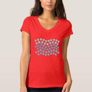 Blue Waves Women's Jersey V-Neck T-Shirt