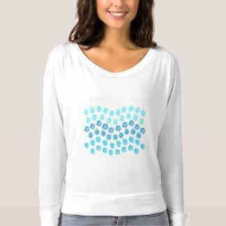 Blue Waves Women's Off Shoulder Shirt