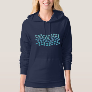 Blue Waves Women's Pullover Hoodie