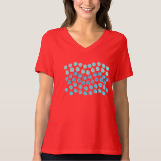 Blue Waves Women's Relaxed Fit V-Neck T-Shirt