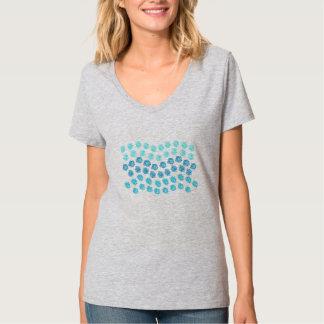 Blue Waves Women's V-Neck T-Shirt