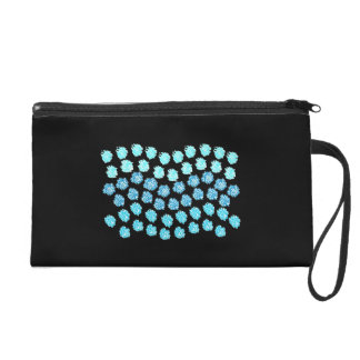 Blue Waves Wristlet