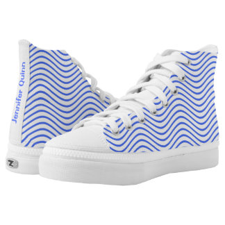 Blue Wavy Lines You Choose the Background Color