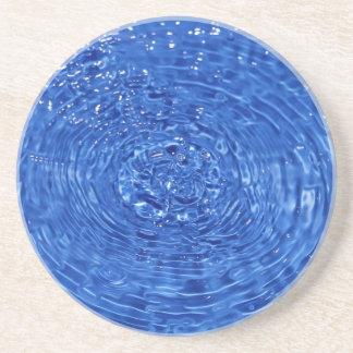 Blue wavy water design drink coaster