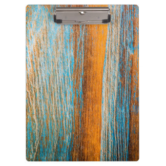 Blue weathered wood clipboard