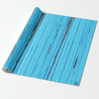 blue weathered wood wrapping paper
