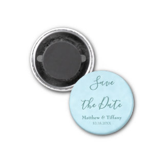 Blue Wedding Save the Date Magnet