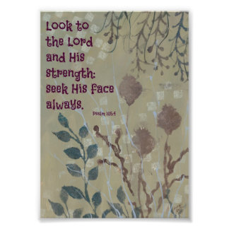 Blue Weeds with a Bible Verse Photo Print