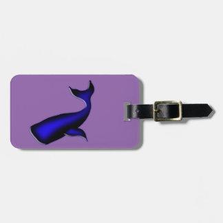 blue whale bag tag