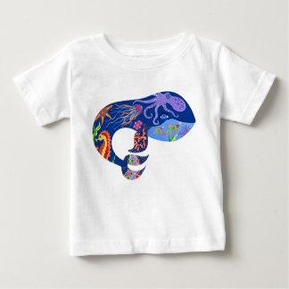 Blue whale, bright marine design, cute whale, fish baby T-Shirt