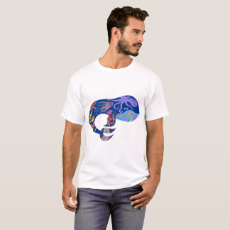 Blue whale, bright marine design, cute whale, fish T-Shirt