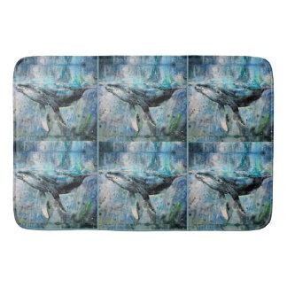 Blue Whale Collection Bath Mat