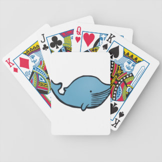 Blue Whale Drawing Bicycle Playing Cards