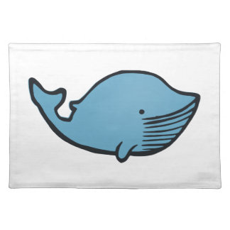 Blue Whale Drawing Placemat
