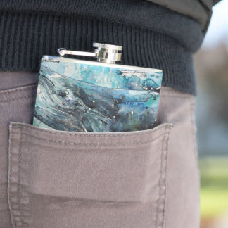 Blue Whale Hip Flask