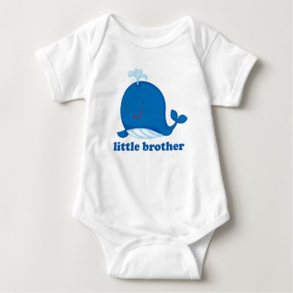 Blue Whale Little Brother Baby Bodysuit