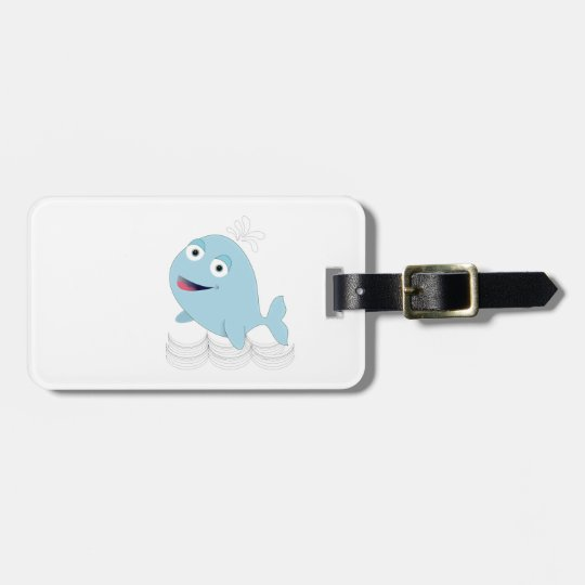 Blue Whale Luggage Tag